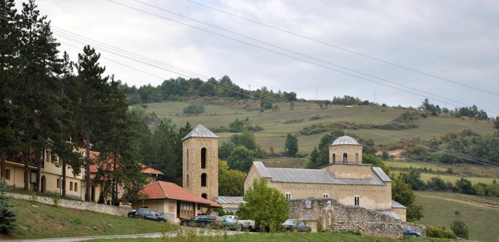 Pogled na manastir Sopoćani