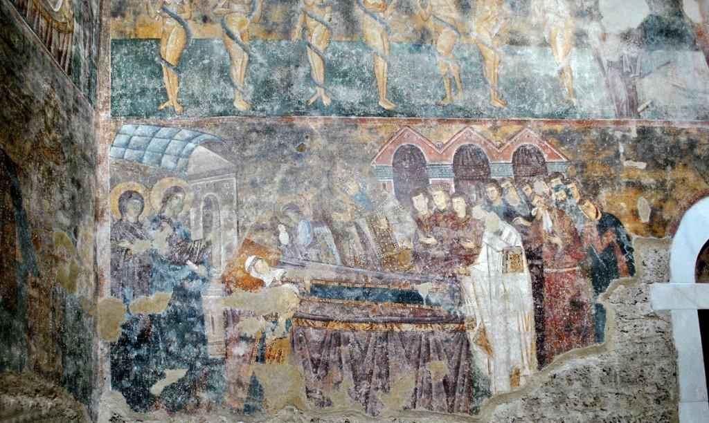 Predstav smrti kraljice Ane Dandolo, majke kralja Uroša I
