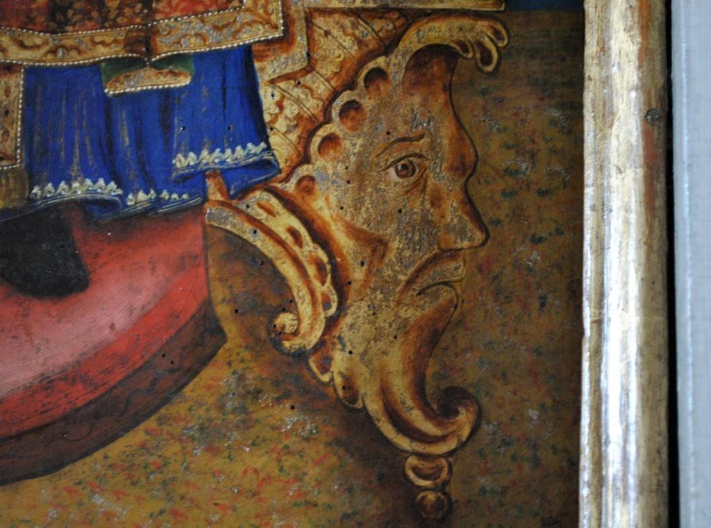 Detalj sa predstave Hrista na prestolu (ikonostas)