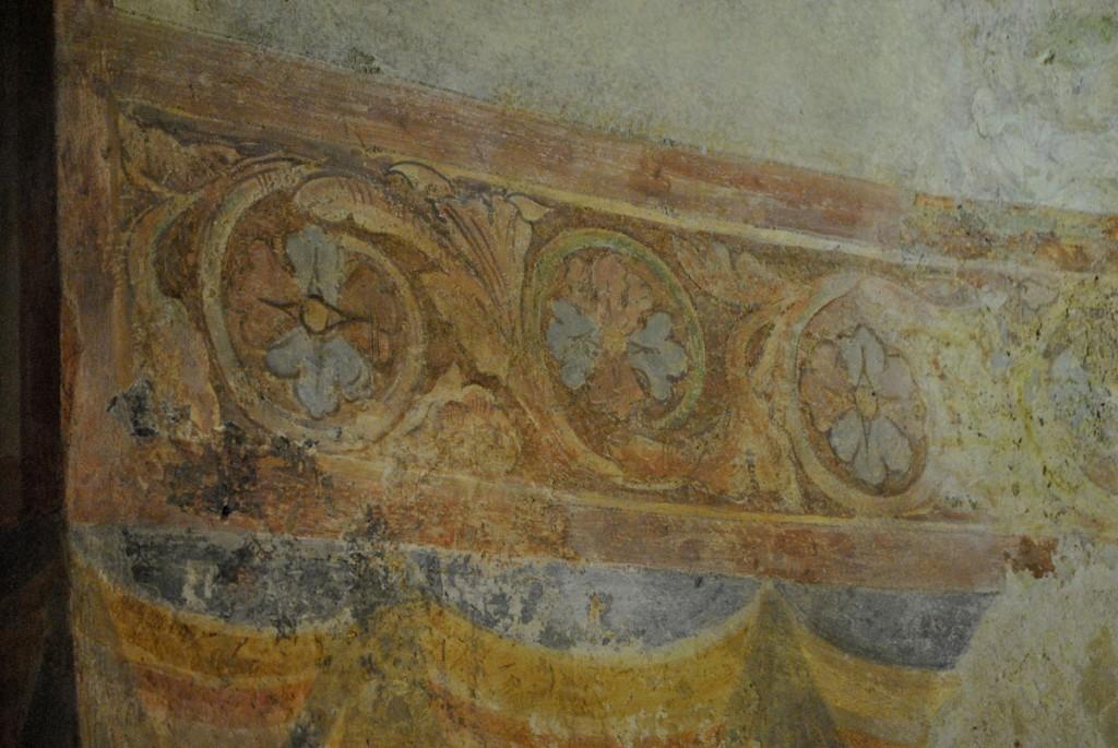 Ostatci fresaka u delu katedrale koji je nekada bio crkva Svetog Đusta