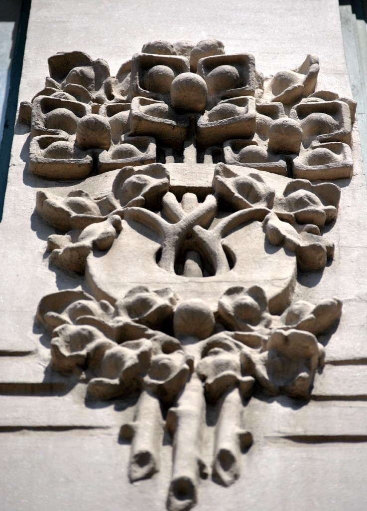 detalj u ornamentici - Zgrada Smederevske banke, arhitekte Milorad Ruvidić i Isailo Fidanović