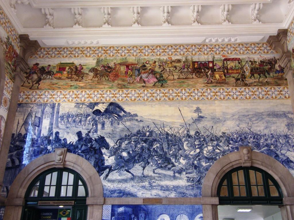 Istorija ispričana azulejom, Železnička stanica u Portu
