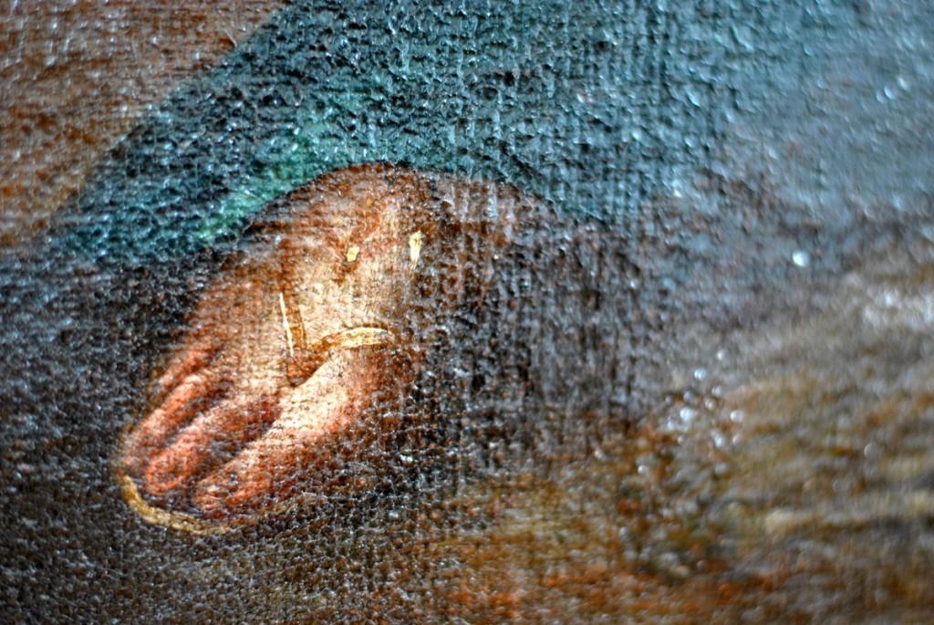 Detalj slike 'Raspeće sa Marijom Magdalenom' Martina Altomontea iz 1734.