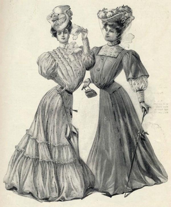 Edvardijanske haljine sa čuvenom S linijom koja se stvarala korsetima Preuzeto sa sajta Wannabe magazine
