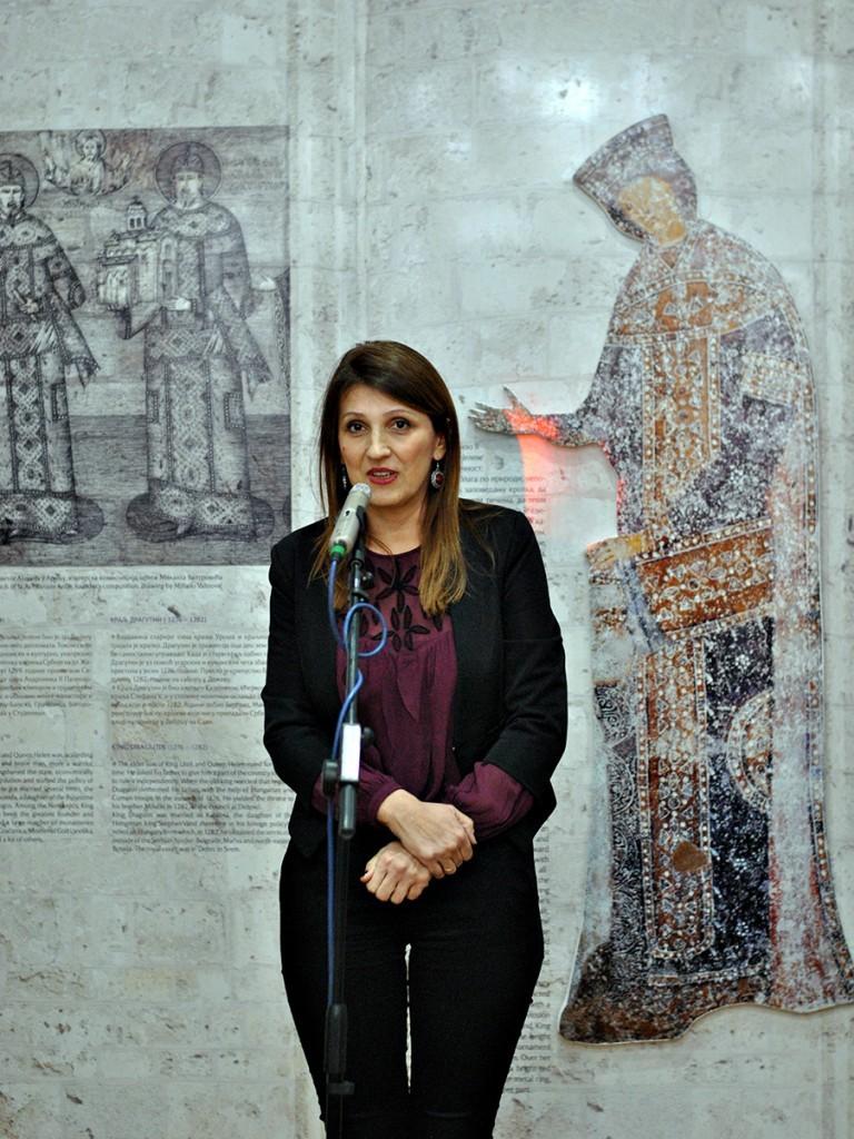 Suzana Novčić, istoričarka umetnosti, muzejska savetnica, Narodni muzej Kraljevo. Fotografija Majda Sikošek