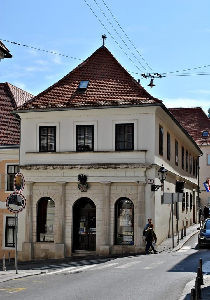 Zgrada apoteke koju je 1399. godine u Zagrebu otvorio Nikolo Aligijeri, praunuk Danteov