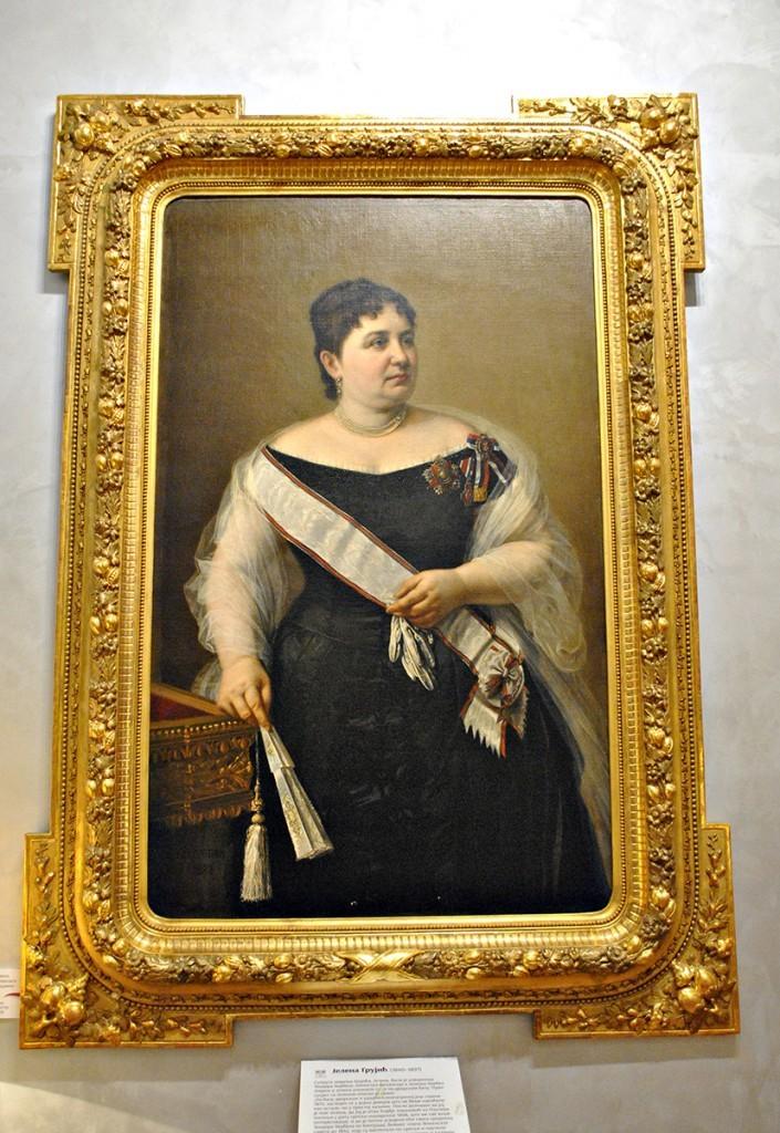 Portret Jelene Grujić, rođene Jovanović rad Steve Todorovića, 1888.