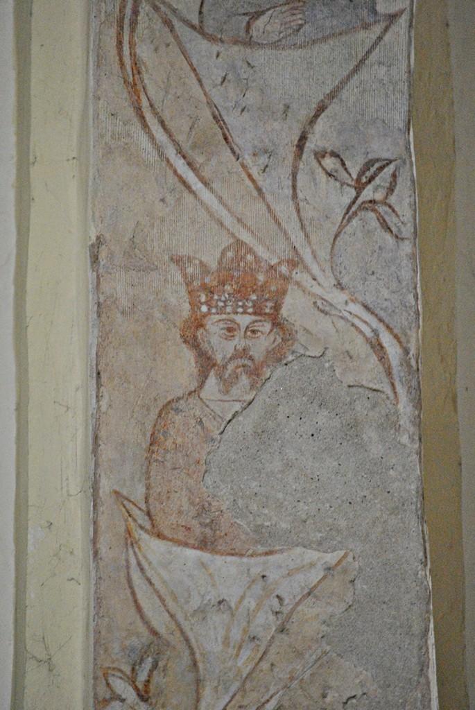Očuvane freske na gotskom luku
