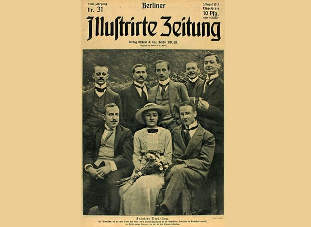 Naslovna strana nemačkih novina sa Jovankom kao prvom ženom arhitektom koja je diplomirala na Univerzitetu u Dramštatu, foto novosti.rs