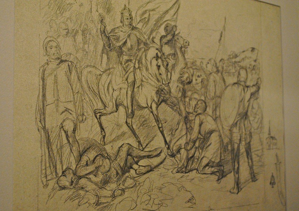 Pobeda kralja Milutina nad Turcima - skica za list u okviru 'Serbskih spomenika'