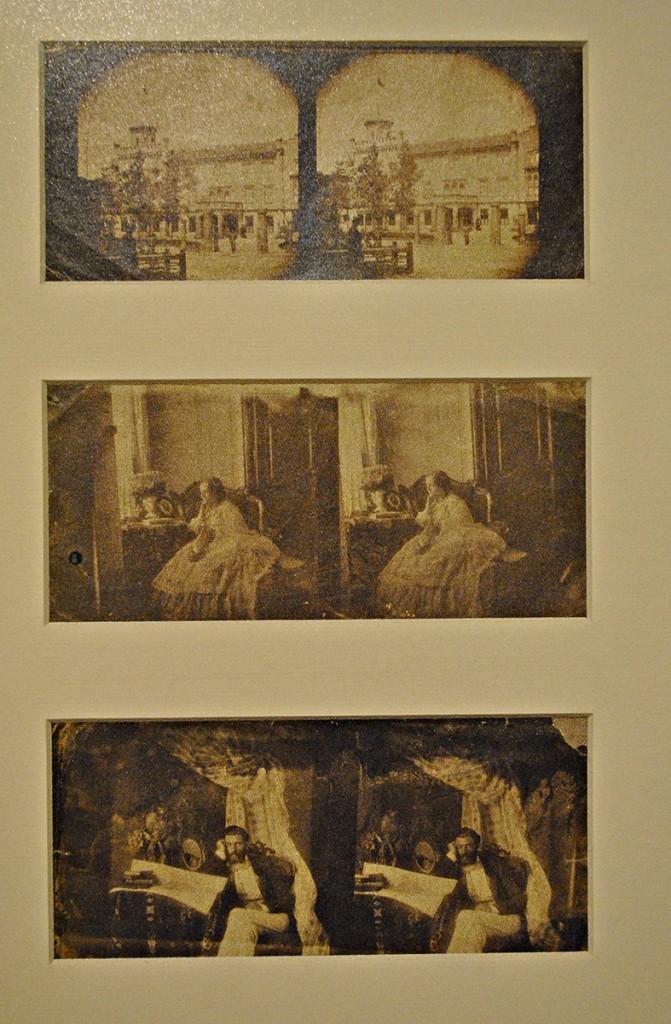 Stereoskopski snimci: Dvorac Obrenovića Ivanka; knjeginja Julija u enterijeru i knez Mihajlo u enterijeru