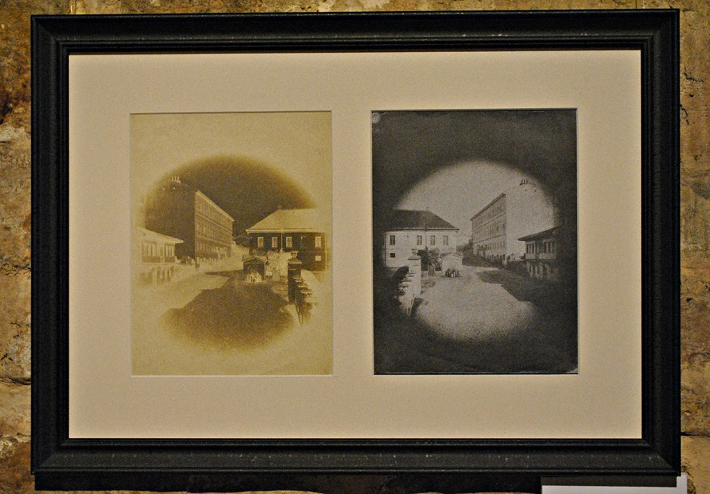 Stereoskopske fotografije Beogradsko šetalište, ulica kralja Petra oko 1842.