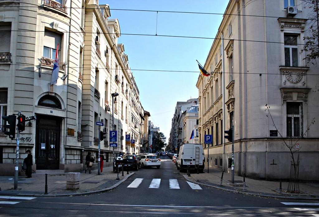 Pogled na Krunsku u pravcu ka ulici Svetozara Markovića