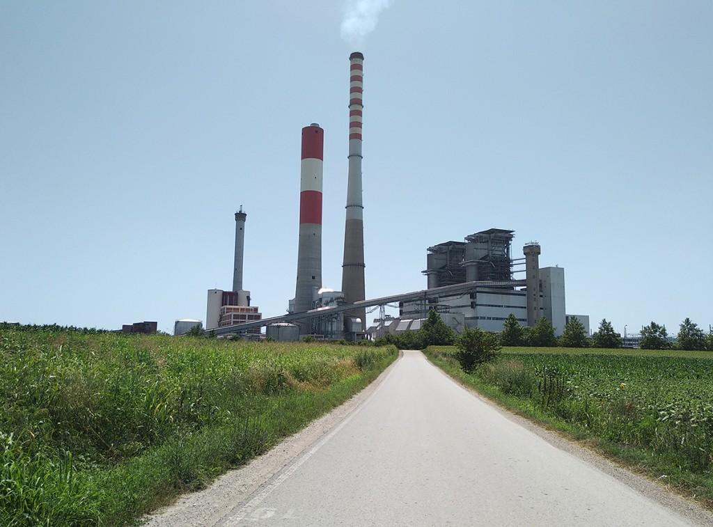 Viminacijum pod poljima, termoelektrana Kostolac na poljima
