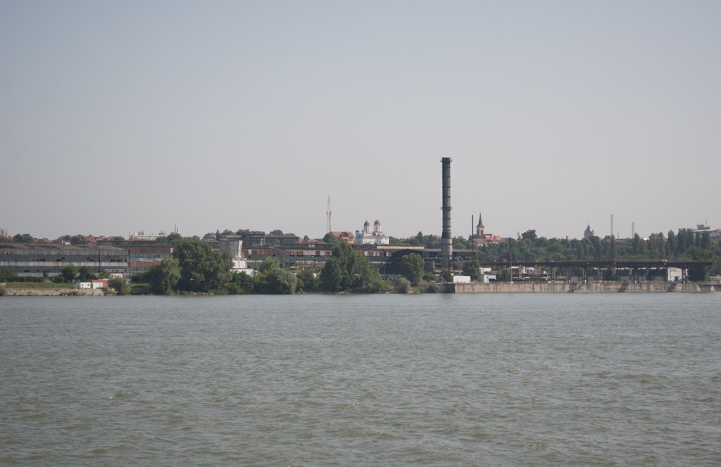 Pogled sa broda na Drobeta Turnu Severin