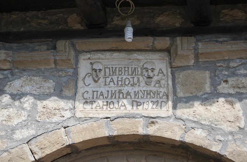 Tabla na pivnici Stanojla S. Pajića iz 1922.