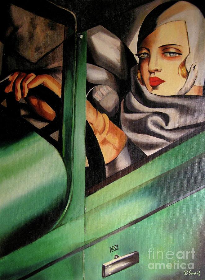 Autoportret u zelenom, Tamara de Lempicka. Fotografija preuzeta sa sajta pixels