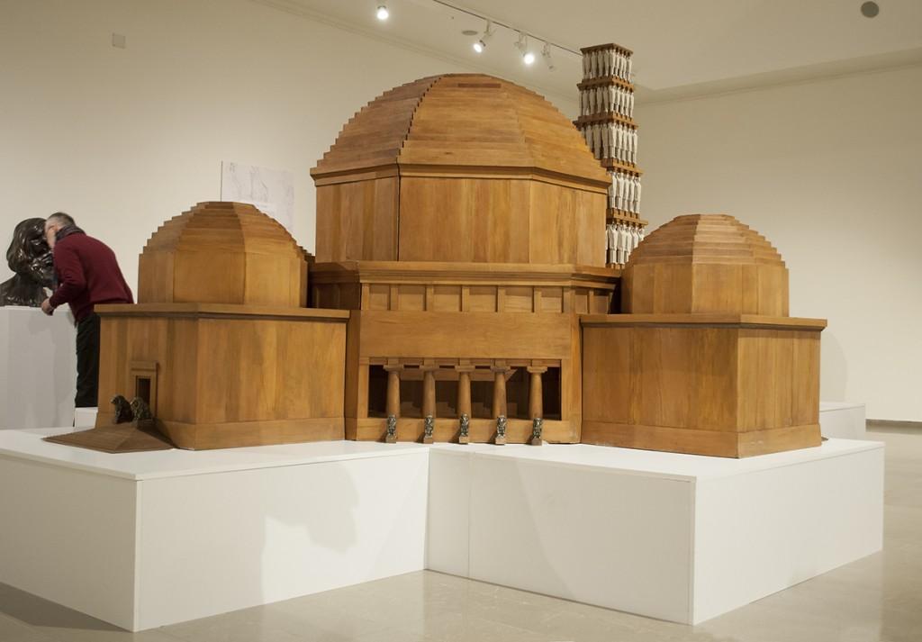 Maketa Vidovdansok hrama, pozajmljena za izložbu iz Narodnog muzeja u Kruševcu