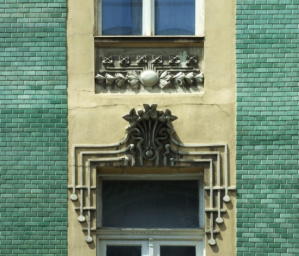 Detalj sa kuće trgovca  Stamenkovića u Beogradu, ulica Kralja Petra. Foto M. Sikošek